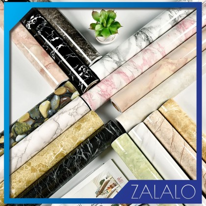ZALALO Modern Living Room Furniture Waterproof Marble Wallpaper Vinyl Self Adhesive Contact Paper Solid Color Home Decor